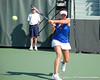 Florida freshman Sofie Oyen returns a volley during the Gators' 4-3 win against top-seeded Stanford to win the 2011 NCAA Championship on Tuesday at Taube Tennis Stadium on the campus of Stanford University in Palo Alto, Calif. / UF Communications photo by Kathy Cafazzo