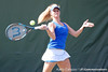 Florida sophomore Allie Will returns a volley during the Gators' 4-3 win against top-seeded Stanford to win the 2011 NCAA Championship on Tuesday at Taube Tennis Stadium on the campus of Stanford University in Palo Alto, Calif. / UF Communications photo by Kathy Cafazzo