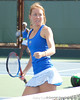 Florida sophomore Lauren Embree reacts after a doubles point during the Gators' 4-3 win against top-seeded Stanford to win the 2011 NCAA Championship on Tuesday at Taube Tennis Stadium on the campus of Stanford University in Palo Alto, Calif. / UF Communications photo by Kathy Cafazzo