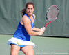 Florida freshman Alexandra Cercone eyes the ball during the Gators' 4-3 win against top-seeded Stanford to win the 2011 NCAA Championship on Tuesday at Taube Tennis Stadium on the campus of Stanford University in Palo Alto, Calif. / UF Communications photo by Kathy Cafazzo