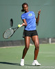 Florida freshman Caroline Hitimana competes during the Gators' 7-0 win against the South Florida Bulls on Monday, February 8, 2010 at Linder Stadium at Ring Tennis Complex in Gainesville, Fla. / Gator Country photo by Tim Casey