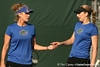 Florida freshman Allie Will and senior Marrit Boonstra compete during the Gators' 7-0 win against the South Florida Bulls on Monday, February 8, 2010 at Linder Stadium at Ring Tennis Complex in Gainesville, Fla. / Gator Country photo by Tim Casey