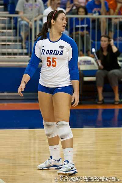 Florida redshirt freshman Taylor Unroe (55) during the Gators' 3-0 win against Boston College on Friday, August 26, 2011 at the Stephen C. O'Connell Center in Gainesville, Fla. / Gator Country photo by Rob Foldy