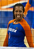 Florida senior Stephanie Ferrell (1) smiles during the Gators' 3-0 win against Boston College on Friday, August 26, 2011 at the Stephen C. O'Connell Center in Gainesville, Fla. / Gator Country photo by Rob Foldy