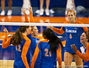 Florida players celebrate a point during the Gators' 3-0 win against Boston College on Friday, August 26, 2011 at the Stephen C. O'Connell Center in Gainesville, Fla. / Gator Country photo by Rob Foldy