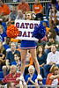 A Florida cheerleader cheers during the Gators' 3-0 win against Boston College on Friday, August 26, 2011 at the Stephen C. O'Connell Center in Gainesville, Fla. / Gator Country photo by Rob Foldy