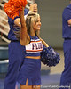 photo by Tim Casey<br /> <br /> A Florida cheerleader performs during the Gators' sweep of the South Carolina Gamecock on Wednesday, October 15, 2008 at the Stephen C. O'Connell Center in Gainesville, Fla.