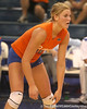photo by Tim Casey<br /> <br /> Florida freshman outside hitter Colleen Ward awaits a serve during the Gators' sweep of the South Carolina Gamecock on Wednesday, October 15, 2008 at the Stephen C. O'Connell Center in Gainesville, Fla.