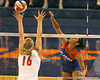 080824_RiversCallie_6553_TCasey<br /> <br /> photo by Tim Casey<br /> <br /> during the Florida volleyball team's annual Fan Day and Orange and Blue Scrimmage on Sunday, August 24, 2008 at the Stephen C. O'Connell Center in Gainesville, Fla.