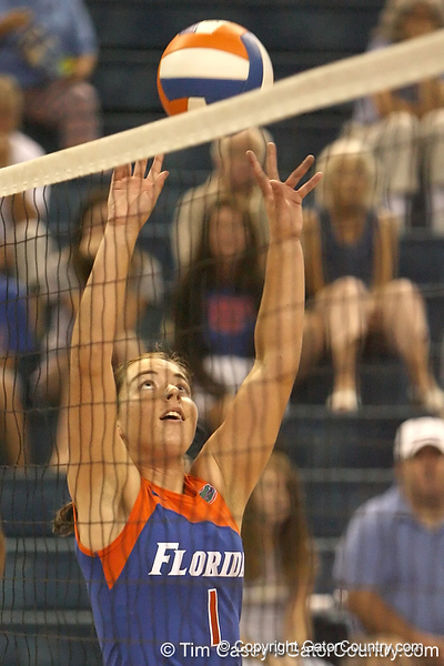 080824_BatheltCindy_6376_TCasey<br /> <br /> photo by Tim Casey<br /> <br /> during the Florida volleyball team's annual Fan Day and Orange and Blue Scrimmage on Sunday, August 24, 2008 at the Stephen C. O'Connell Center in Gainesville, Fla.