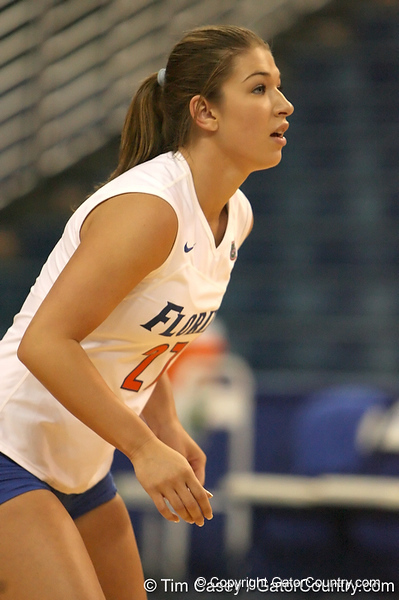 080824_FlemingErin_6399_TCasey<br /> <br /> photo by Tim Casey<br /> <br /> during the Florida volleyball team's annual Fan Day and Orange and Blue Scrimmage on Sunday, August 24, 2008 at the Stephen C. O'Connell Center in Gainesville, Fla.
