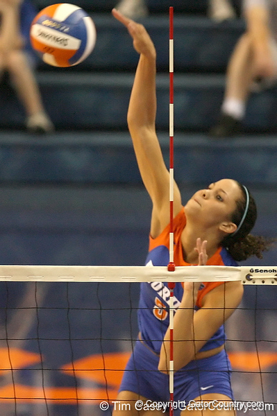 080824_RiversCallie_6574_TCasey<br /> <br /> photo by Tim Casey<br /> <br /> during the Florida volleyball team's annual Fan Day and Orange and Blue Scrimmage on Sunday, August 24, 2008 at the Stephen C. O'Connell Center in Gainesville, Fla.