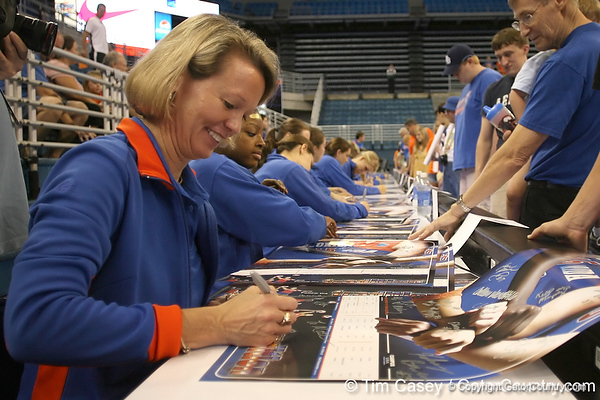080824_WiseMary_6280_TCasey<br /> <br /> photo by Tim Casey<br /> <br /> during the Florida volleyball team's annual Fan Day and Orange and Blue Scrimmage on Sunday, August 24, 2008 at the Stephen C. O'Connell Center in Gainesville, Fla.