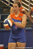 080824_BatheltCindy_6379_TCasey<br /> <br /> photo by Tim Casey<br /> <br /> during the Florida volleyball team's annual Fan Day and Orange and Blue Scrimmage on Sunday, August 24, 2008 at the Stephen C. O'Connell Center in Gainesville, Fla.