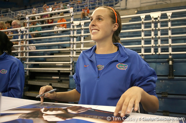 080824_BowersKelsey_6320_TCasey<br /> <br /> photo by Tim Casey<br /> <br /> during the Florida volleyball team's annual Fan Day and Orange and Blue Scrimmage on Sunday, August 24, 2008 at the Stephen C. O'Connell Center in Gainesville, Fla.