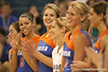 080824_JaeckelKristy_6357_TCasey<br /> <br /> photo by Tim Casey<br /> <br /> during the Florida volleyball team's annual Fan Day and Orange and Blue Scrimmage on Sunday, August 24, 2008 at the Stephen C. O'Connell Center in Gainesville, Fla.