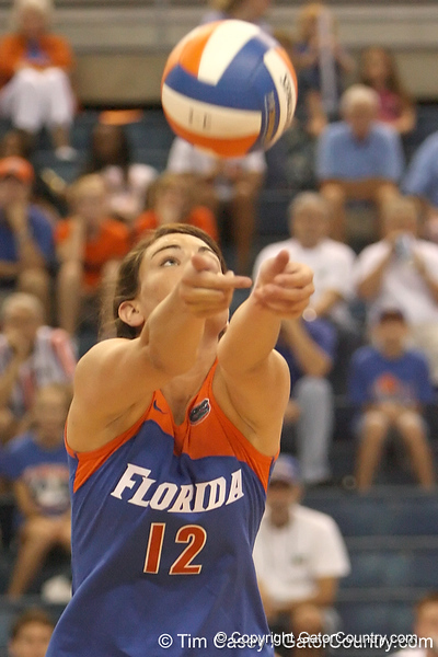 080824_MurphyKelly_6457_TCasey<br /> <br /> photo by Tim Casey<br /> <br /> during the Florida volleyball team's annual Fan Day and Orange and Blue Scrimmage on Sunday, August 24, 2008 at the Stephen C. O'Connell Center in Gainesville, Fla.