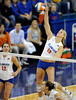UF freshman Colleen Ward spikes the ball during the first set. The Gators clinched their last home game with a 3-0 win over the Crimson Tide at the O'Connell Center on Saturday, November 23, 2008. (Casey Brooke Lawson / Gator Country)