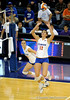UF freshman Kelly Murphy looks up to hit the ball during the third set. The Gators clinched their last home game with a 3-0 win over the Crimson Tide at the O'Connell Center on Saturday, November 23, 2008. (Casey Brooke Lawson / Gator Country)