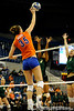 UF senior Kelsey Bowers spikes the ball to Colorado State. The Gator's were triumphant over the Rams 3-0 in Gainesville, Fla on December 6, 2008. (Casey Brooke Lawson)