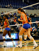 Two UF players celebrate after scoring a point over Colorado State. The Gator's were triumphant over the Rams 3-0 in Gainesville, Fla on December 6, 2008. (Casey Brooke Lawson)