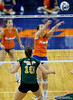 UF freshman Cindy Bathelt hits the ball to Colorado State. The Gator's were triumphant over the Rams 3-0 in Gainesville, Fla on December 6, 2008. (Casey Brooke Lawson)