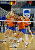 UF Sophomore Callie Rivers  clenches her fist after scoring over Colorado State. The Gator's were triumphant over the Rams 3-0 in Gainesville, Fla on December 6, 2008. (Casey Brooke Lawson)