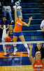 UF Sophomore Callie Rivers serves against Colorado State. The Gator's were triumphant over the Rams 3-0 in Gainesville, Fla on December 6, 2008. (Casey Brooke Lawson)