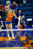 UF freshman Cassandra Anderson serves the ball to Colorado State. The Gator's were triumphant over the Rams 3-0 in Gainesville, Fla on December 6, 2008. (Casey Brooke Lawson)