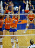 UF senior Kelsey Bowers misses a spike made by Colorado State. The Gator's were triumphant over the Rams 3-0 in Gainesville, Fla on December 6, 2008. (Casey Brooke Lawson)