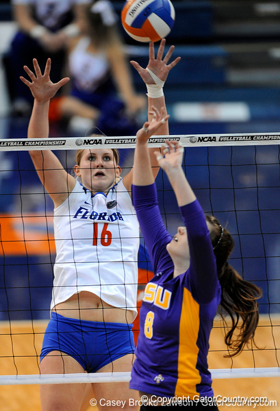 The University of Florida Gators were defeated 3-1 by the LSU Tigers in the Stephen C. O'Connell Center in Gainesville, Fla. on Friday, November 13, 2009. / Gator Country photo by Casey Brooke Lawson