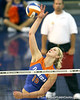 Florida sophomore outside hitter Colleen Ward goes up for a kill during the third game of the Gators' 3-0 win against the UNLV Rebels on Friday, August 28, 2009 at the Stephen C. O'Connell Center in Gainesville, Fla / Gator Country photo by Tim Casey