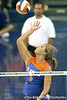 Florida redshirt sophomore outside hitter Kristy Jaeckel attempts a kill during the third game of the Gators' 3-0 win against the UNLV Rebels on Friday, August 28, 2009 at the Stephen C. O'Connell Center in Gainesville, Fla / Gator Country photo by Tim Casey