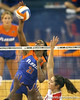 Florida sophomore middle blocker Cassandra Anderson attempts a kill during the third game of the Gators' 3-0 win against the UNLV Rebels on Friday, August 28, 2009 at the Stephen C. O'Connell Center in Gainesville, Fla / Gator Country photo by Tim Casey