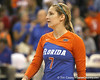Florida senior libero Elyse Cusack awaits a serve during the Gators' 3-0 win against the Auburn Tigers on Sunday, November 8, 2009 at the Stephen C. O'Connell Center in Gainesville, Fla. / Gator Country photo by Tim Casey