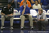 Florida volleyball head coach Mary Wise looks on during the Gators' 3-0 win against the Auburn Tigers on Sunday, November 8, 2009 at the Stephen C. O'Connell Center in Gainesville, Fla. / Gator Country photo by Tim Casey