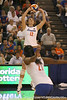 Florida sophomore setter/right-side hitter Kelly Murphy makes a pass during the Gators' 3-0 win against the Auburn Tigers on Sunday, November 8, 2009 at the Stephen C. O'Connell Center in Gainesville, Fla. / Gator Country photo by Tim Casey