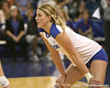 Florida sophomore outside hitter Colleen Ward awaits a serve during the Gators' 3-0 win against the Auburn Tigers on Sunday, November 8, 2009 at the Stephen C. O'Connell Center in Gainesville, Fla. / Gator Country photo by Tim Casey