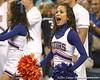 Florida cheerleaders perform during the Gators' 3-0 win against the Auburn Tigers on Sunday, November 8, 2009 at the Stephen C. O'Connell Center in Gainesville, Fla. / Gator Country photo by Tim Casey