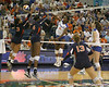 Florida redshirt senior outside hitter Kristina Johnson makes an attack during the Gators' 3-0 win against the Auburn Tigers on Sunday, November 8, 2009 at the Stephen C. O'Connell Center in Gainesville, Fla. / Gator Country photo by Tim Casey