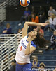 Florida junior outside hitter Callie Rivers serves during the Gators' 3-0 win against the Auburn Tigers on Sunday, November 8, 2009 at the Stephen C. O'Connell Center in Gainesville, Fla. / Gator Country photo by Tim Casey