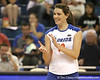 Florida sophomore setter/right-side hitter Kelly Murphy celebrates after a point during the Gators' 3-0 win against the Auburn Tigers on Sunday, November 8, 2009 at the Stephen C. O'Connell Center in Gainesville, Fla. / Gator Country photo by Tim Casey