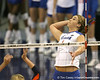 Florida redshirt-sophomore outside hitter Kristy Jaeckel makes an attack during the Gators' 3-0 win against the Auburn Tigers on Sunday, November 8, 2009 at the Stephen C. O'Connell Center in Gainesville, Fla. / Gator Country photo by Tim Casey