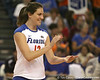 Florida sophomore setter/right-side hitter Kelly Murphy celebrates a kill during the Gators' 3-0 win against the Auburn Tigers on Sunday, November 8, 2009 at the Stephen C. O'Connell Center in Gainesville, Fla. / Gator Country photo by Tim Casey