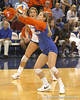 Florida senior libero Elyse Cusack passes the ball during the Gators' 3-0 win against the Auburn Tigers on Sunday, November 8, 2009 at the Stephen C. O'Connell Center in Gainesville, Fla. / Gator Country photo by Tim Casey