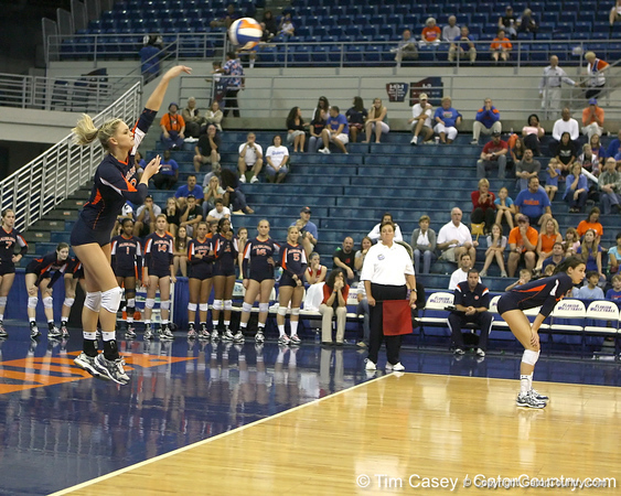 during the Gators' 3-0 win against the Auburn Tigers on Sunday, November 8, 2009 at the Stephen C. O'Connell Center in Gainesville, Fla. / Gator Country photo by Tim Casey