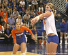 Florida sophomore outside hitter Colleen Ward makes a pass during the Gators' 3-0 win against the Auburn Tigers on Sunday, November 8, 2009 at the Stephen C. O'Connell Center in Gainesville, Fla. / Gator Country photo by Tim Casey