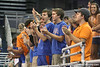 Florida fans cheer during the Gators' 3-0 win against the Colorado Buffaloes on Saturday, August 29, 2009 at the Stephen C. O'Connell Center in Gainesville, Fla / Gator Country photo by Tim Casey
