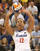 Florida sophomore setter/right-side hitter Kelly Murphy passes the ball during the Gators' 3-0 win against the Colorado Buffaloes on Saturday, August 29, 2009 at the Stephen C. O'Connell Center in Gainesville, Fla / Gator Country photo by Tim Casey