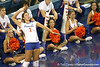 Florida junior setter Brynja Rodgers serves during the Gators' 3-0 win against the Colorado Buffaloes on Saturday, August 29, 2009 at the Stephen C. O'Connell Center in Gainesville, Fla / Gator Country photo by Tim Casey